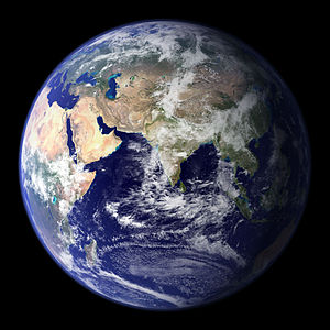 A photomosaic of Earth, taken by NASA from wikipedia
